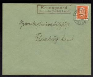 Deutsches Reich Brief Landpoststempel Kronsgaard Kappeln Schlei Land Flensburg