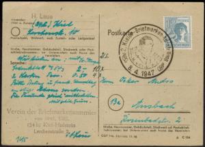 Besetzung Karte EF Gemeinschaft SST Kieler UPU Stephan Briefmarkenausstellung