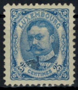 Luxemburg 76 Freimarke 25 C Großherzog Wilhelm 1906 sauber ungebraucht