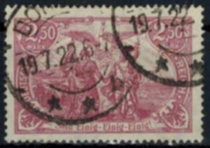Deutsches Reich 115a Querformat 2,50 Mark 1920 bessere Farbe gestempelt geprüft