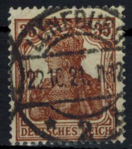 Deutsches Reich 103b Germania 35 Pf 1919 bessere Farbe gestempelt geprüft INFLA