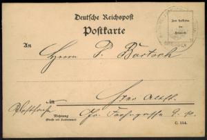 Deutsches Reich Postsache Kaiserliches Postamt Dresden 1895