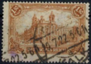 Deutsches Reich 114b Reichspostamt 1,50 Mark gute Farbe gestempelt gerüft INFLA