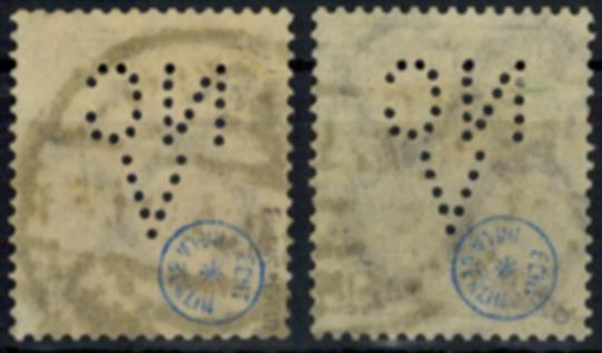Deutsches Reich 231a + b sauber gestempelt geprüft INFLA mit Firmenlochung 1
