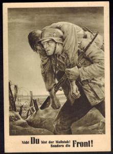 Generalgouvernement Ansichtskarte Tag der NSDAP 1943 Krakau Künstler Will Tesch
