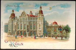 Ansichtskarte Köln Litho Halt geg. Licht Verlag Max Victor 30 leuchtende Fenster
