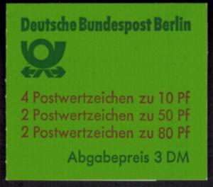 Berlin Markenheftchen 13 a oZ Burgen und Schlösser 1982 sauber gestempelt