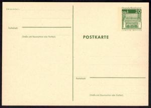 Bund Ganzsache P 92 20 Pfg. Bauwerke Torhalle Lorsch Hessen ungebraucht