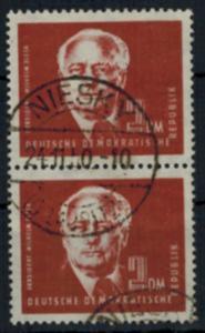 DDR 254 Präsident Wilhelm Pieck 2 DM als Paar sauber gestempelt NIESKY 24.11.50