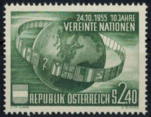 Österreich 1022 10 Jahre Vereinte Nationen UNO Luxus postfrisch MNH Kat. 16,00