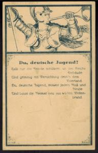 Ansichtskarte Du deutsche Jugend Künstler Rückwandererhilfe selten Sauer Berlin