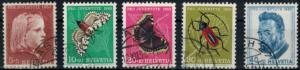 Schweiz 588-592 Pro Juventute 1953 komplett gestempelt Insekten Ferdinand Hodler