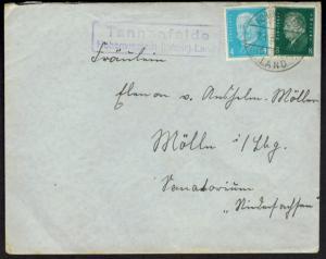 Brief Deutsches Reich Landpoststempel Hohenwestedt Schleswig Holstein n. Mölln
