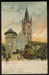 Ansichtskarte Königsberg Ostpreussen 1904 nach Westrum Friesland