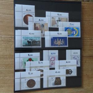 Bund 1306-1346 Jahrgang 1987 Bogenecke Eckrand oben links selten einheitlich
