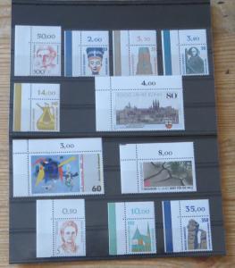 Bund 1397-1443 Jahrgang 1989 Bogenecke Eckrand oben links selten einheitlich