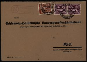 All. Besetzung MIF Kontrollrat AM-Post Landpoststempel Molfsee Kiel Reichspost