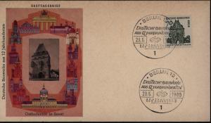 Berlin Brief 248 FDC 70 Pfg. Bauwerke auf schönem FDC Brandenburger Tor
