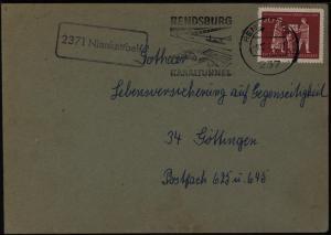 Bund Brief 390 Landpoststempel 2371 Nienkattbek Rendsburg Schleswig n. Göttingen