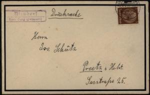 Deutsches Reich Brief Landpoststempel Niendorf auf Fehmarn Schleswig nach Pretz