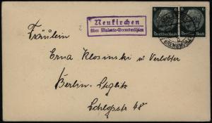 Deutsches Reich Brief MEF Hindenburg Landpoststempel Malente-Gremsmühlen 1939
