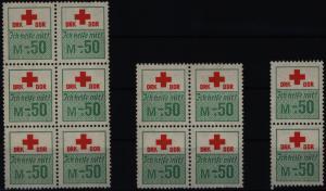 DDR Spendenmarken DRK Ich helfe mit! Vignette 3 Einheiten mit Originalgummierung
