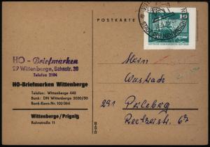 DDR Postkarte mit Ganzsachenausschnitt P 79 Wittenberge nach Perleberg 20.9.1970