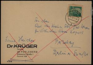 DDR Postkarte mit Ganzsachenausschnitt P 68 Perleberg