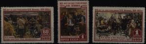 Sowjetunion 1756-1758 Geburtstag Wladimir Lenin 1955 komplett ** MNH