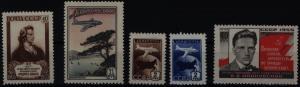 Sowjetunion 1759-1763 drei Ausgaben 1955 Schiller-Majakowskij komplett ** MNH