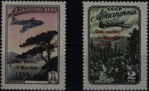 Sowjetunion 1789-1790 Eröffnung Polarstationen Nordpol 4+5 1955 komplett ** MNH