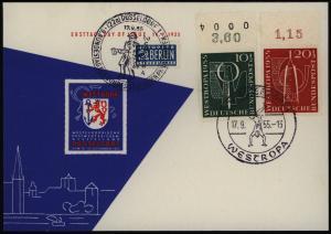 Bund 217-218 Westropa je vom Oberrand einmal Bogenzähler kopfstehend Sonderkarte