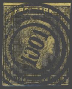 Preussen 4 a 3 Sgr. Friedrich Wilhelm IV. Nummernstempel 1001 Neisse Nysa