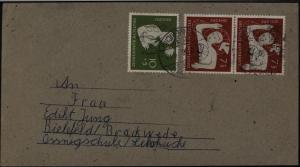 Bund Brief MIF 232-233 nach Bielefeld Brackwede 156-9 mit 3 sehr schönen SST