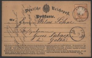 Deutsches Reich 3 Brustschild EF K1 Neiße Nysa n. Gross Labarz b. Gotha