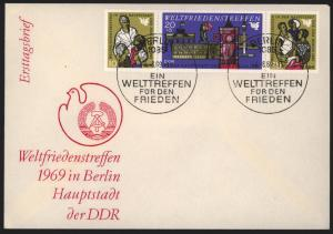 DDR Brief Zusammendruck W Zd 207 FDC Berlin Motiv Brandenburger Tor