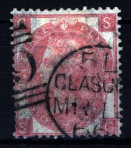 Großbritannien 23 Königin Victoria 3 Pence 1865 sauber gestempelt