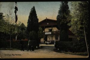 Ansichtskarte Forsthaus Neu-Panklau Nowe Pęklewo Westpreussen 1908 n. Riesenburg