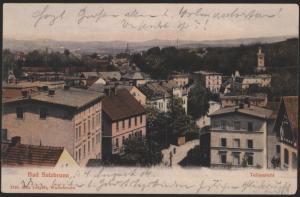 Ansichtskarte Bad Salzbrunn Schlesien Szczawno-Zdrój Polen 1904 nach Sassnitz