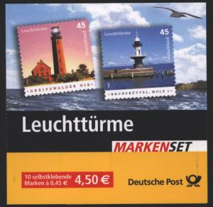 Bund Markenheftchen MH 58 Leuchttürme 2005 Ersttagsstempel WEIDEN