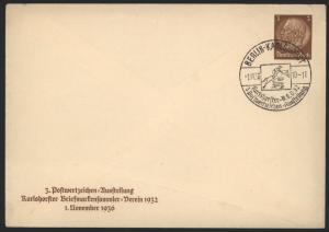 Reich Privatganzsache PU 127 C1 Berlin Karlshorster Briefmarken Ausstellung