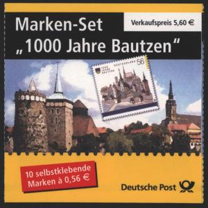 Bund Markenheftchen MH 48 a 1000 Jahre Bautzen 2002 Ersttagsstempel FRANKFURT