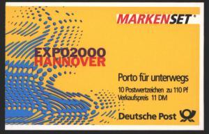 Bund Markenheftchen MH 39 Sehenswürdigkeiten 1999 Ersttagsstempel FRANKFURT