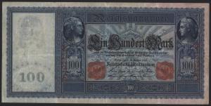 Geldschein Banknote Deutsches Reich Reichsbanknote 100 Mark 38 D 10.9.1909 I-II