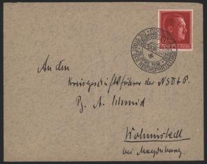 Deutsches Reich Brief 664 mit SST Nürnberg 20.4.1938