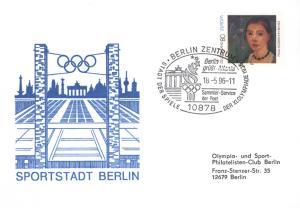 Bund Brief bzw. Karte Motiv Brandenburger Tor SST Berlin grüßt Atlanta Olympiade