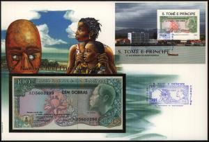 Geldschein Banknote Banknotenbrief S. Tome E Principe Schein und