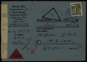 Berlin Nachnahme-Brief EF 150 Stadtbilder nach Neukölln 6.1.1961