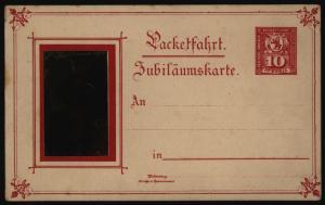 Stadtpost Privatpost Ganzsache Berlin P 49 Paketfahrt Jubiläumskarte Kaiser