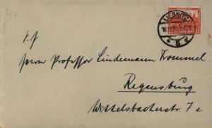 Dt. Reich Brief EF 476 Nothilfe Burgen u. Schlösser Liegnitz n. Regensburg 1932